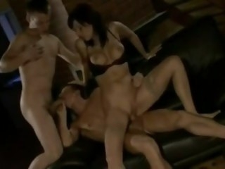 Bisex Triad MMF big tits big dick